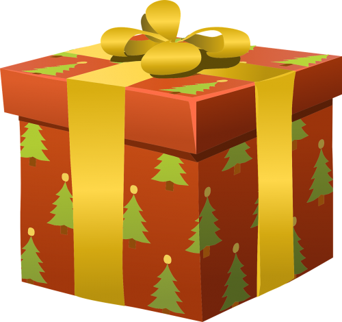 presents,wrapped,gifts,christmas,holidays,packed,packages,orange,golden,ribbons,patterns,trees,wrapping,free vector graphics