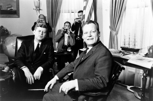 president john kennedy german chancellor willy brandt meeting