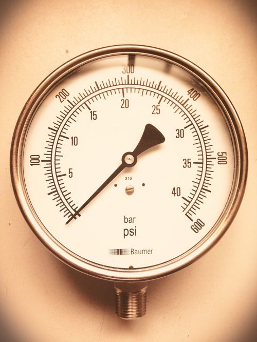 pressure gauge industrial clock