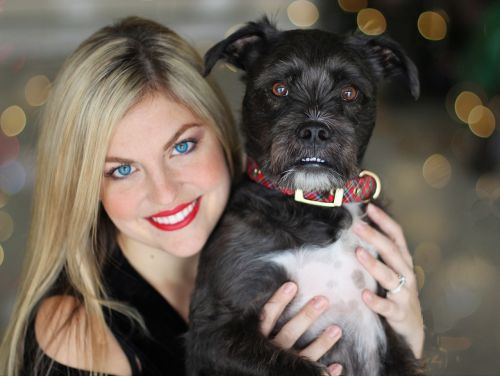 pretty girl pup dog