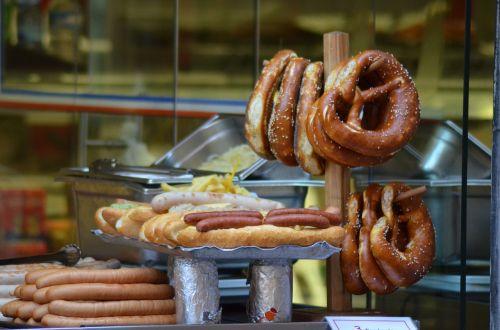 pretzels sausage strasbourg