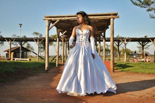 princess dress outdoors