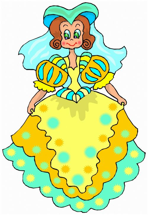 mergaitė, iliustracija, piešimas, išraiška, eskizas, figūra, princesė, pasaka, princese 3