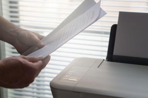 printer paperwork print
