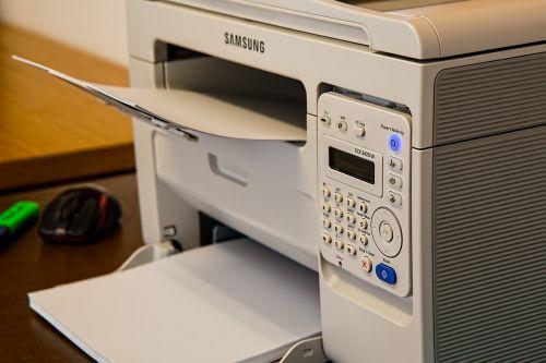 printer desk office