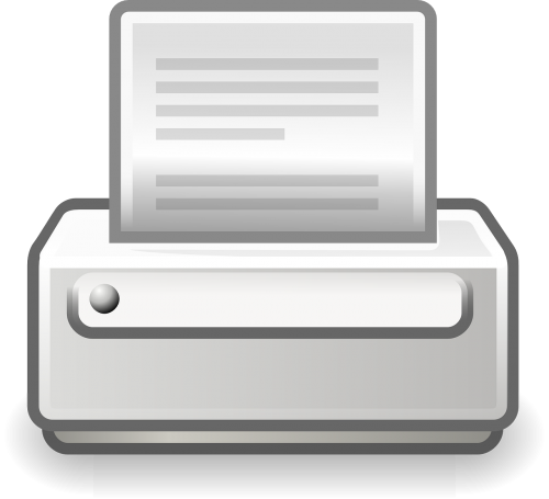 printer print document