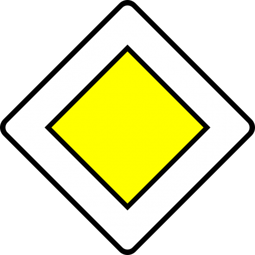 priority road traffic sign sign