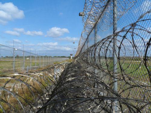 prison fence razor ribbon wire