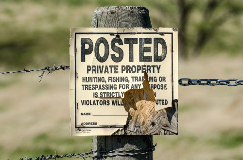 private property sign posted keep out