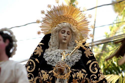 procession virgin santo domingo guatemala holy week in guatemala