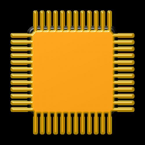 processor computer gold