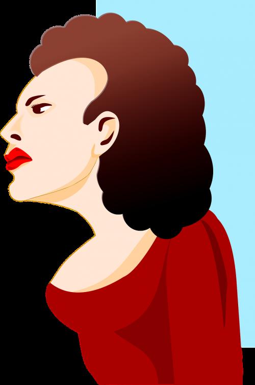 profile woman female