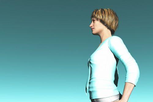 profile women sky