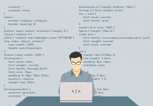 programmer programming code