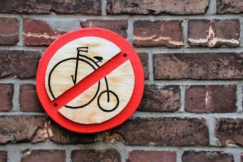 prohibited ban bike