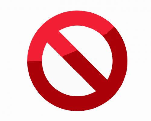 prohibited forbidden locked