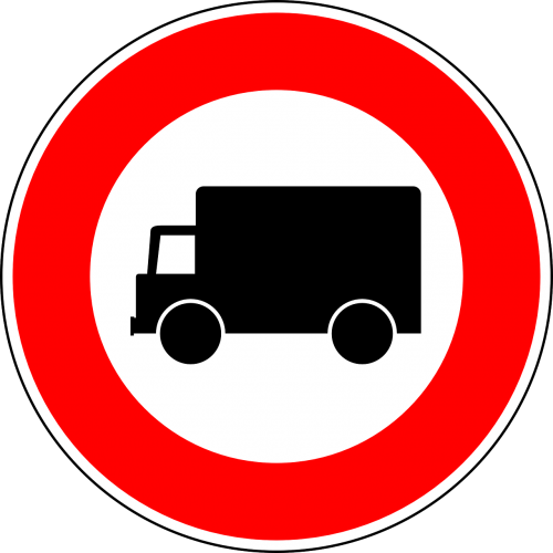 prohibition of motor vehicles prohibition of lorries traffic sign