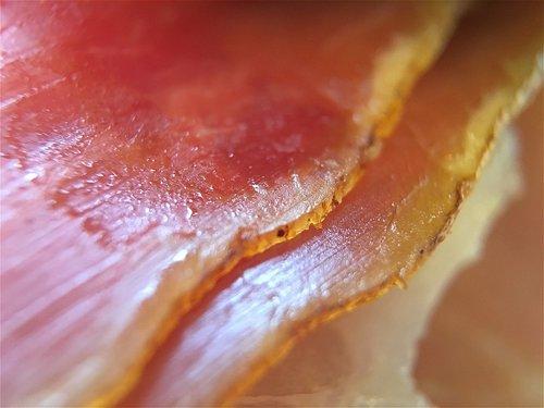 prosciutto ham  smoked prosciutto ham  striations