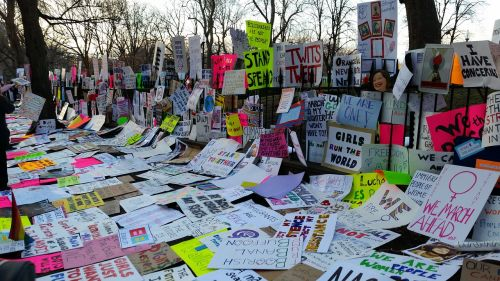 protest signs women's march