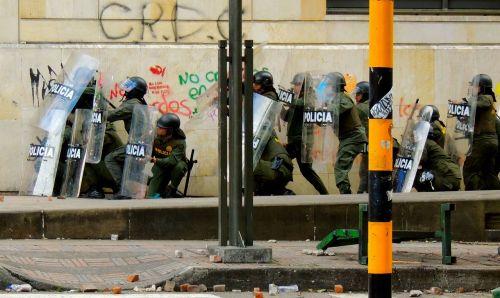 protest bogota police