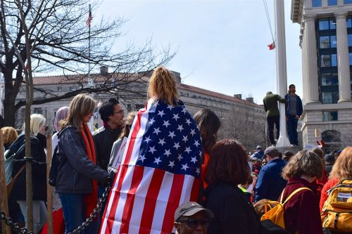 protest flag demonstration