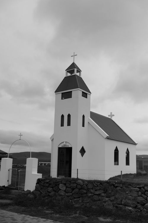 protestant church village iceland
