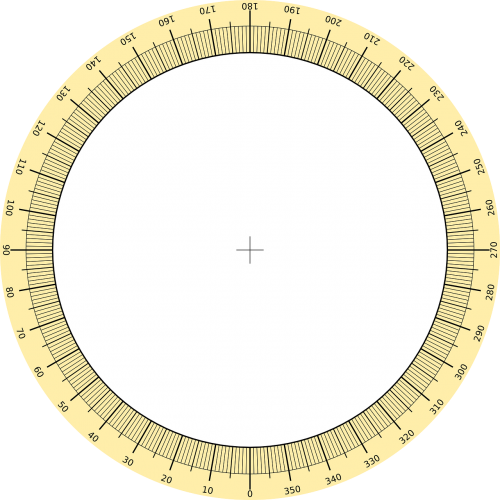 protractor circle scale