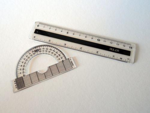 protractor ruler measure