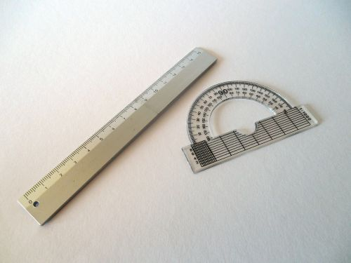protractor ruler measure
