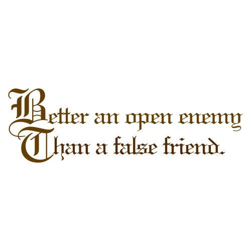 Proverb On False Friend