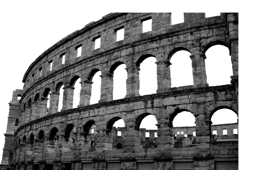 psd isolated colosseum