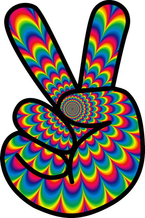 psychedelic peace hippie