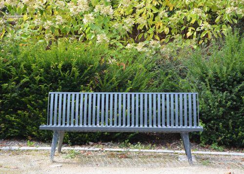 public bench sitting relax