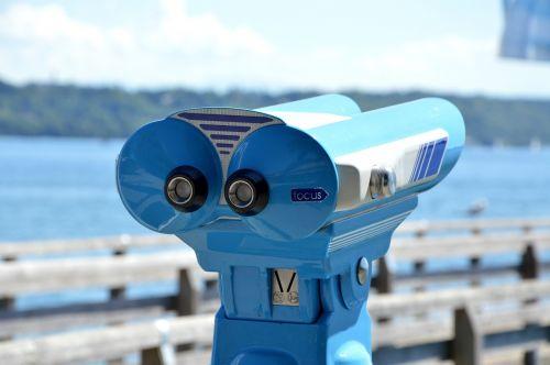 public binoculars coin - operated binoculars binoculars at the lake