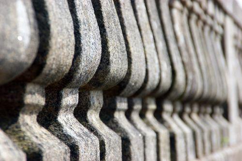 public garden columns bokeh