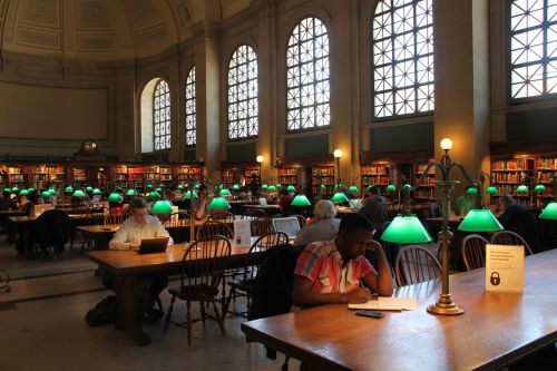 public library reading room boston