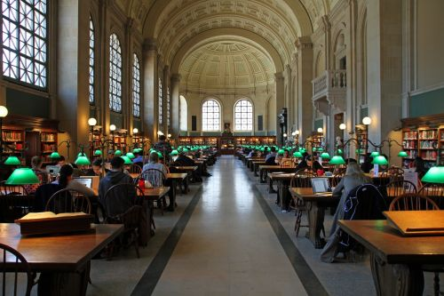 public library reading room boston