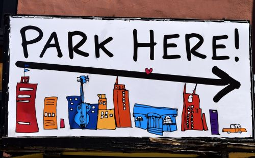 public parking sign drawing