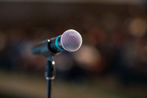 public speaking  mic  microphone