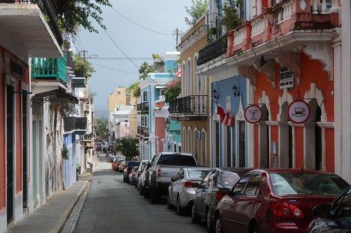 puerto rico  san juan  old street