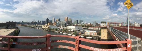 pulaski bridge queens new york city view waterfront