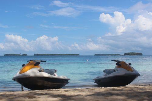 water scooters pulau seribu travel