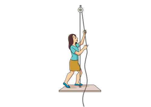 pulley pulling self