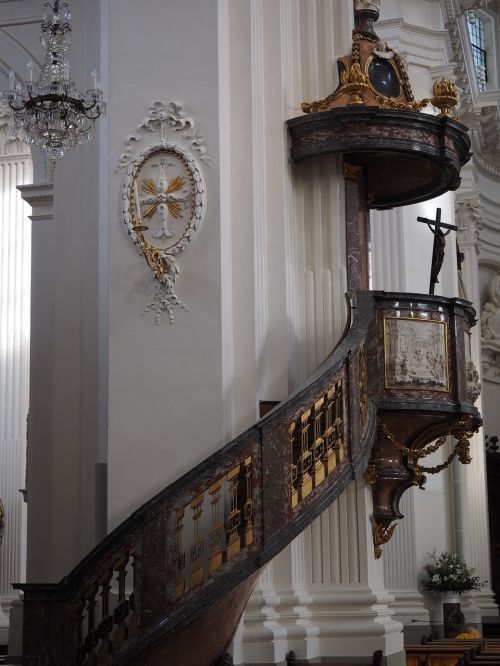 pulpit church st ursus cathedral