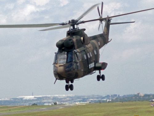 Puma Helicopter After Takeoff