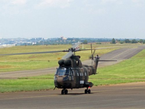 Puma Helicopter Taxiing