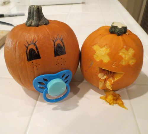 pumpkin jack o lantern baby