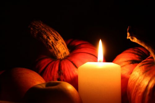 pumpkin candle halloween