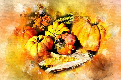 pumpkin autumn corn