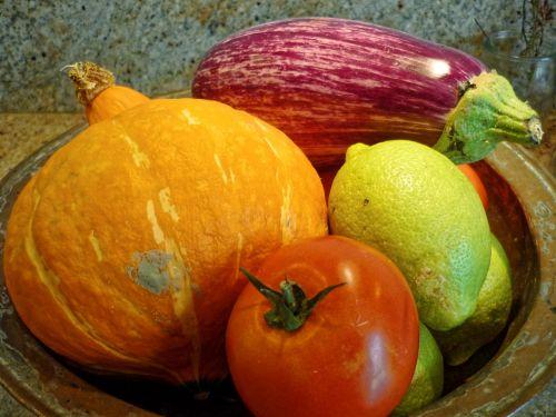pumpkin eggplant tomato